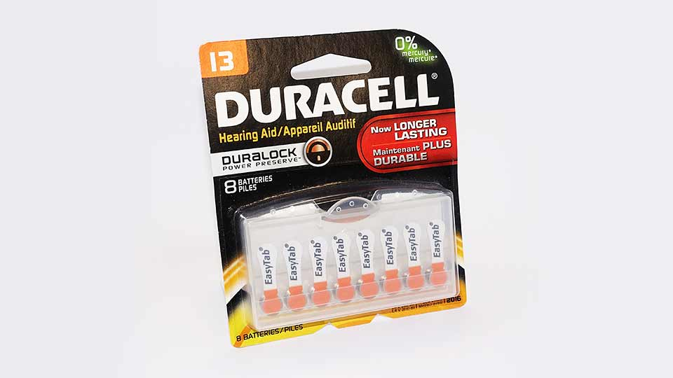Duracell 13 Hearing Aid Battery 8PK